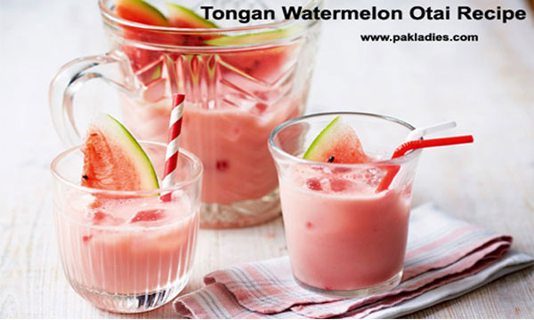 Tongan Watermelon Otai Recipe