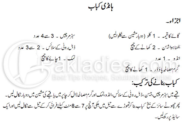 Handi Kabab Recipe