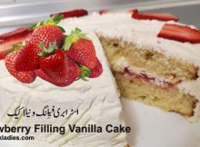 Strawberry Filling Vanilla Cake