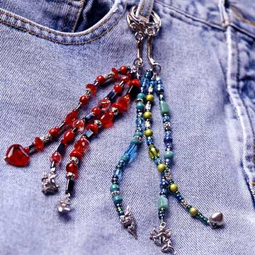 Beaded Drop Strings for Jeans