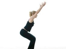 Utkatasana ~ Semi-Standing Pose on Tiptoe