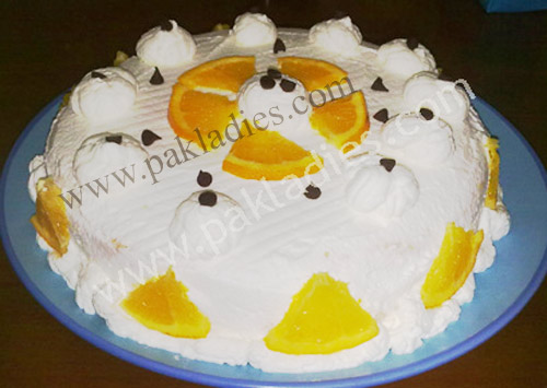Orange Fresh Cream Cake