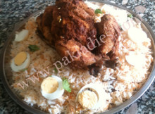 murgh musallam with rice
