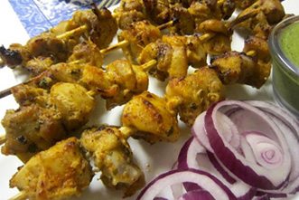 spicy chicken tikka kebab