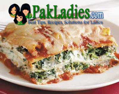 Spinach and Mince Lasagna Recipe