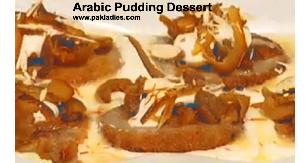 Arabic Pudding Dessert