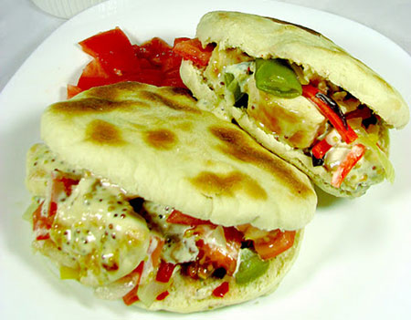 Pita Bread with Chicken