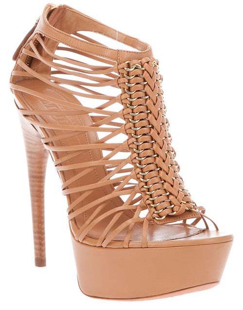 Plait detail high heel