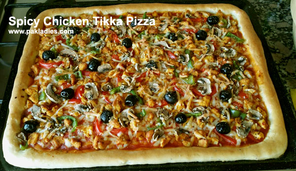 Spicy Chicken Tikka Pizza
