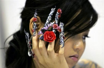 Japanese 3D Nail Art Design