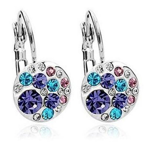 Ailinna Crystal Inlaid Diamond Earrings