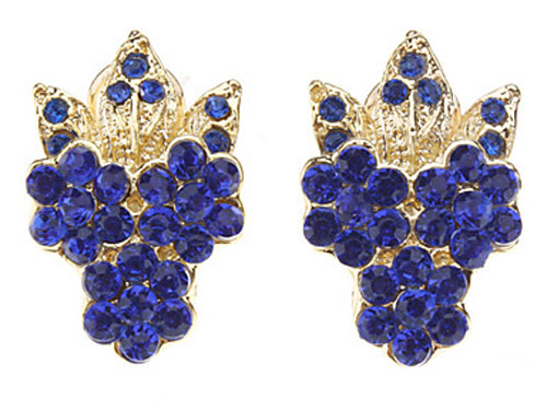 Collar chapado winter sweet Blue Diamond Earring