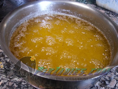 ghee ready to strain