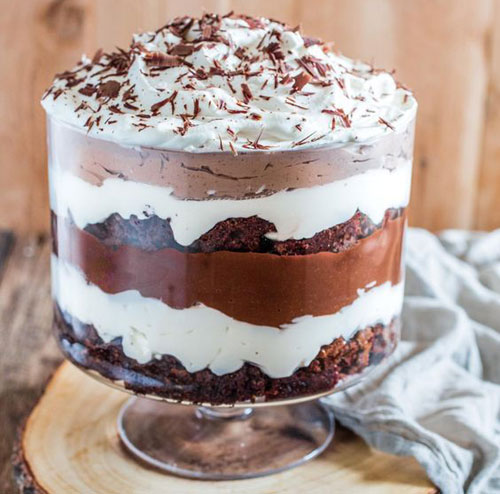 Coffee Brownie Trifle Recipe
