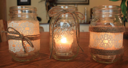 DIY Glass Candle Holder