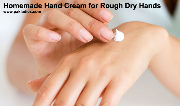 Homemade Hand Cream for Rough Dry Hands