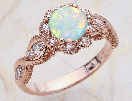 Opal in Gold Ring