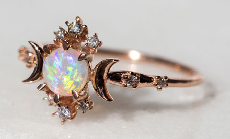 Opal with Diamond