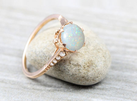 Opal Ring on Stone