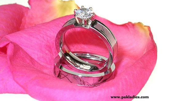 Pink Camo Wedding Rings Sets
