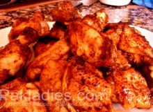 Five Spice Honey Chicken Wings