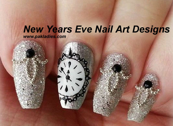 New Years Eve Nail Art Designs