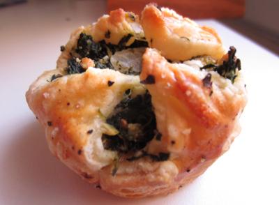 Spinach and Feta Cheese Puffs