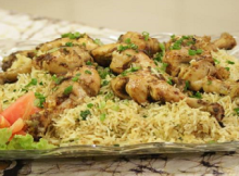 Tamarind Drumsticks with Masala Rice by Shireen Anwer