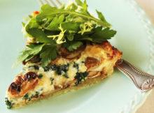 Chicken Mushroom Spinach Quiche