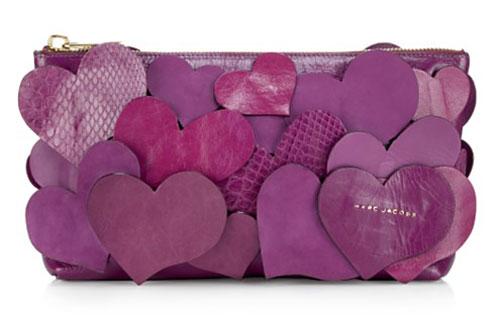 Purple Leather clutch bag