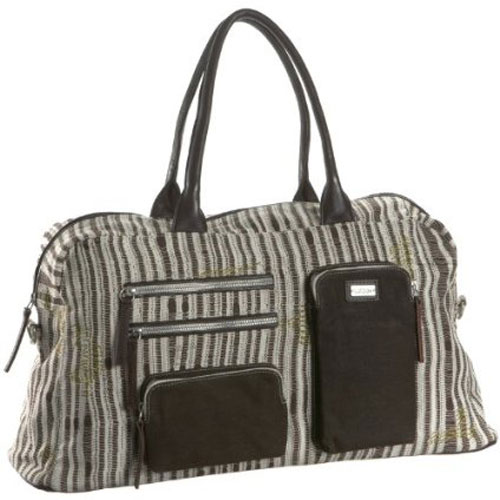 Saltbox Women's Darn Knit canvas weekend travel bag