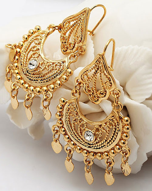 Beautiful Gold Earrings Designs
