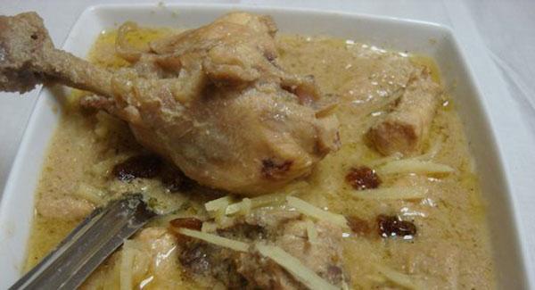 chicken white korma