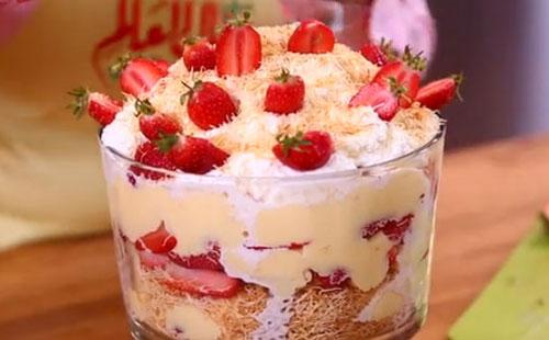 Kunafa Strawberry Trifle