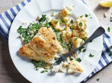 Pan Fried Fish with Creamy Spring Green