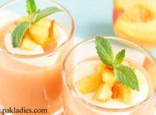 Peach and Coconut Milk Smoothie