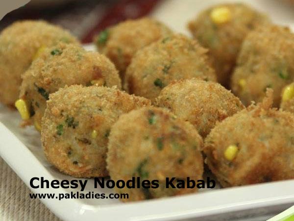 Cheesy Noodles Kabab
