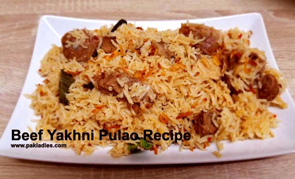Beef Yakhni Pulao Recipe