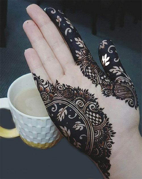 Black Mehndi Designs 2018