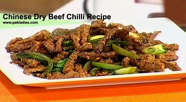Chinese Dry Beef Chilli Recipe