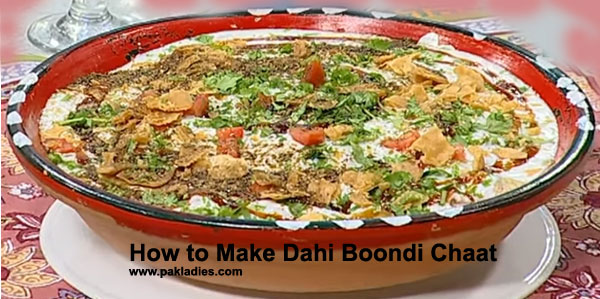 How to Make Dahi Boondi Chaat