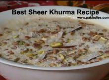 Best Sheer Khurma Recipe