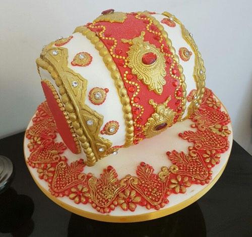 Mehndi Dholki Cake