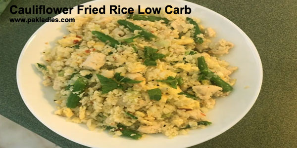 Cauliflower Fried Rice Low Carb