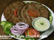 Restaurant Style Chapli Kabab