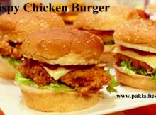 Crispy Chicken Burgers In a plate