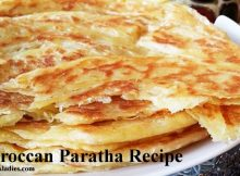 Moroccan Paratha on wire rack