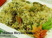 Mutton Biryani in a Dish