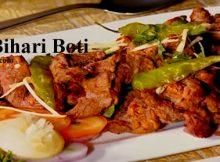 Beef Bihari Boti in serving dish