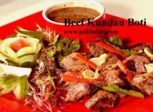 Beef Kundan Boti with Salad and Sauce